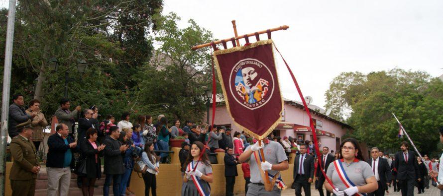 Paihuano rindió homenaje a las Glorias Navales con actos oficiales