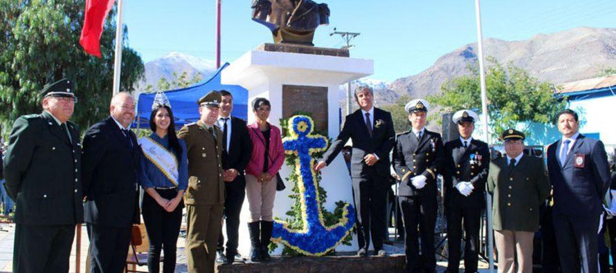 En Vicuña realizan tradicional acto y desfile en conmemoración de las Glorias Navales
