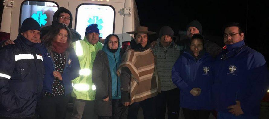 En la noche de este sábado fueron rescatados los arrieros perdidos en alta cordillera de Cochiguaz
