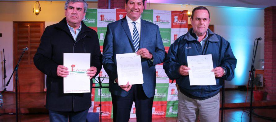 Con renovación de convenio entre Vicuña y Pocito finalizó segundo día del Foro Vitivinícola