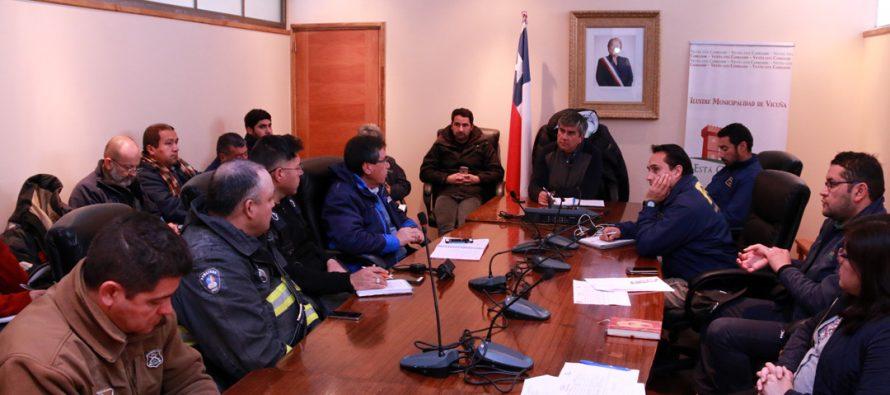COE comunal de Vicuña se reúne para coordinar acciones por frente de mal tiempo