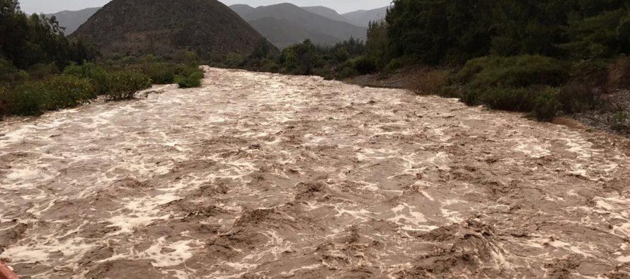 Reportan  bajada de quebradas en toda la comuna de Vicuña por frente de mal tiempo