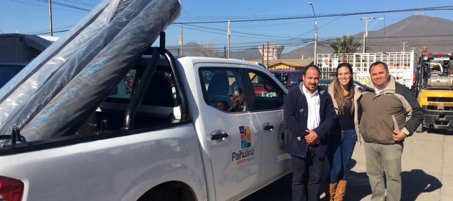 SAN y Fedefruta donaron rollos de plástico a municipalidad de Paihuano para prevenir daños por lluvias