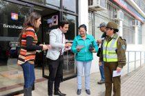 Lanzan campaña #CuidaTuTarjeta anticipando el fin de semana largo en Vicuña