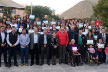 Un total de 36 familias de Paihuano contarán con la ansiada casa propia luego de 16 años de espera
