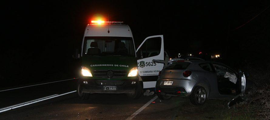 Conocida vecina vicuñense fallece en accidente vehicular en ruta 41