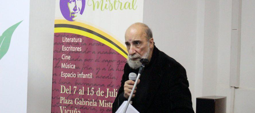 Raúl Zurita y Sol Díaz dieron vida a una nueva noche de la Feria del Libro en Vicuña