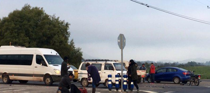 Colisión entre motociclista y vehículo particular deja un lesionado en Altovalsol