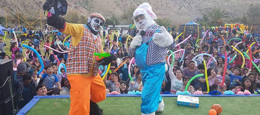 Paihuano celebró a los niños y niñas con parque de diversiones