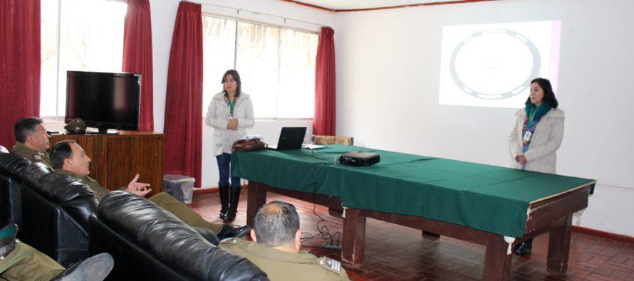 Carabineros de Elqui de capacitan en 1era acogida en casos VIF y violencia contra la mujer