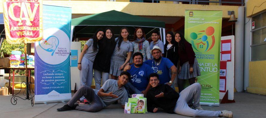 Acciones solidarias dan el inicio de la Semana de Juventud en Vicuña