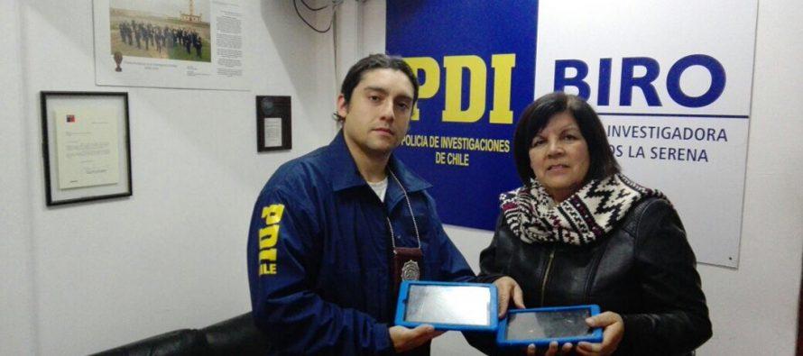 PDI recupera 2 tablets robadas a colegio de El Romero