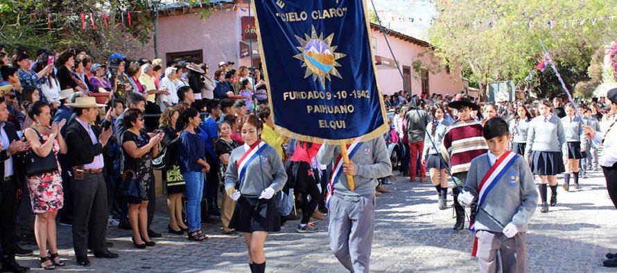 Paihuano celebró los 207 años de aniversario con actos y desfiles