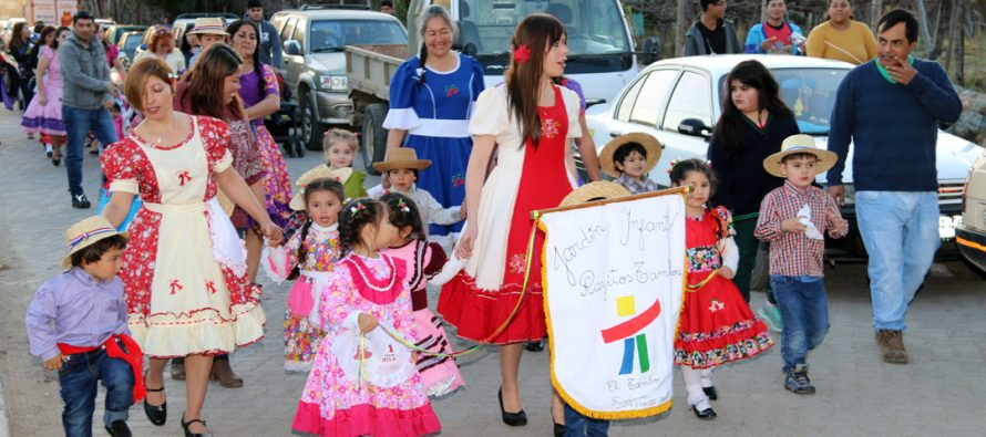 Con actos y desfiles conmemoran Fiestas Patrias diversas organizaciones en la comuna de Vicuña