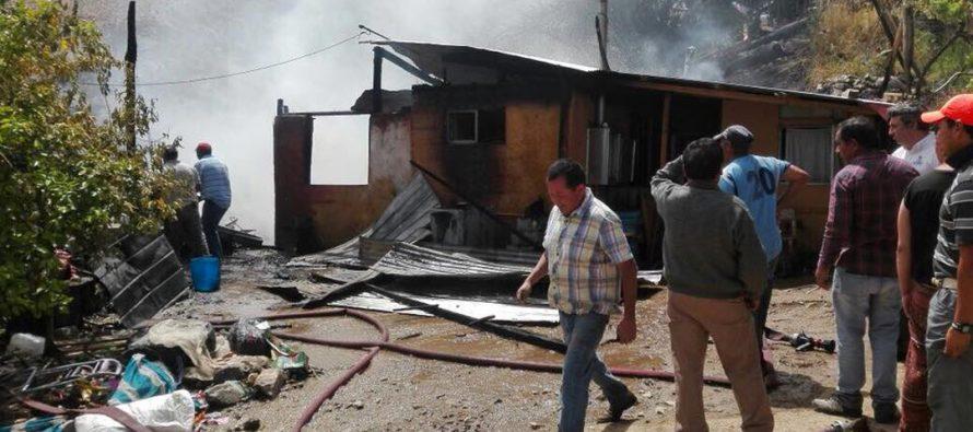 Incendio consumió vivienda en la Quebrada de Paihuano