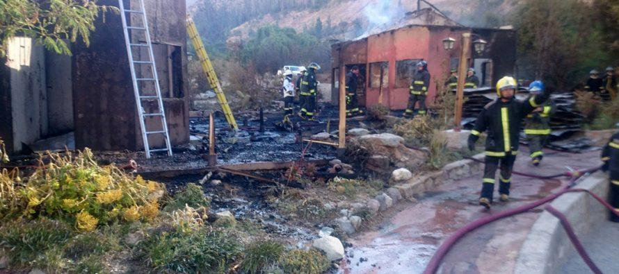 PDI investiga siniestro que afectó a Pueblo Artesanal de Horcón en la comuna de Paihuano