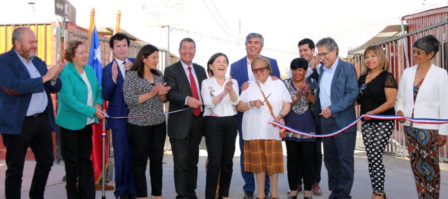Inauguran colector de aguas lluvias de Sargento Aldea en Vicuña