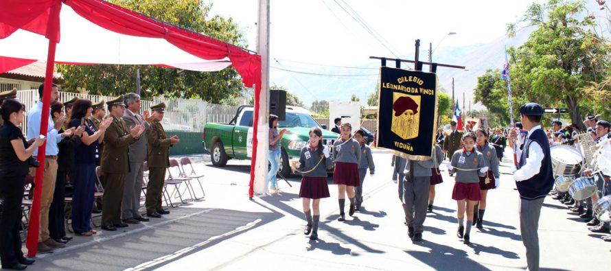 """""""Patrullas Escolares"""" conmemoran su día con acto, reconocimientos y desfile en Vicuña"""