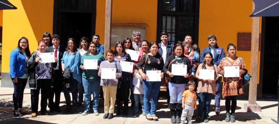 """Familias vicuñenses son beneficiadas con proyectos de """"habitabilidad"""" y """"autoconsumo"""""""
