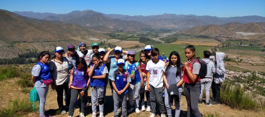 En Marquesa se vivió 7mo Encuentro Escolar Preventivo de Trekking