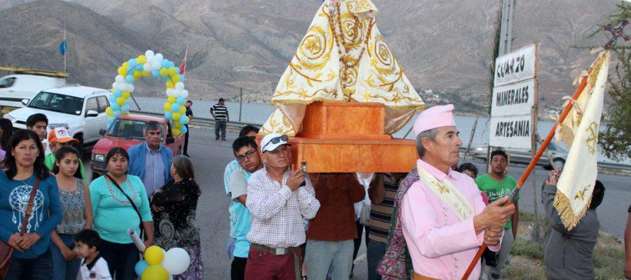 Presentan imagen de la Virgen de Andacollo en localidad de Puclaro