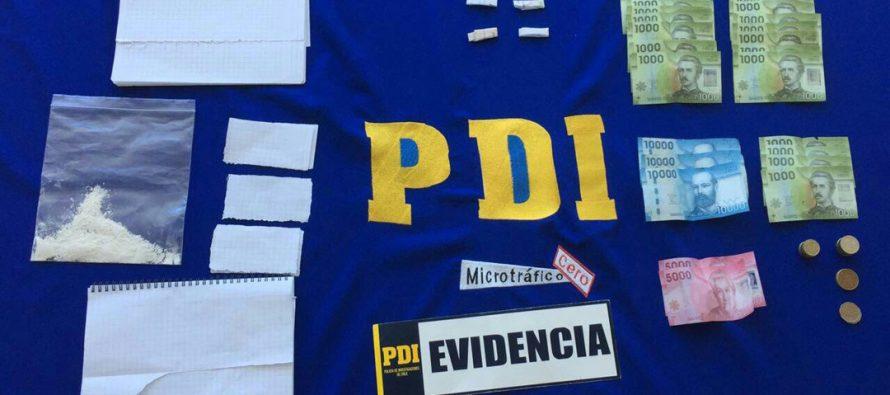 PDI detiene a cuatro personas por microtrafico en población Aguas de Elqui de Vicuña