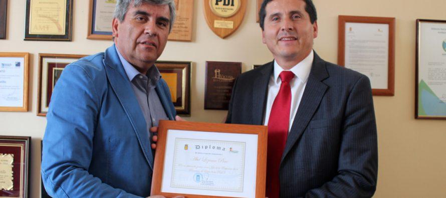 En Vicuña destacan gestión de comisario de la PDI Abel Lizama Pinto