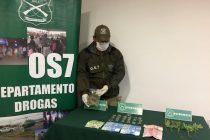 OS-7 de Carabineros detuvo a microtraficante en el pueblo de El Romero