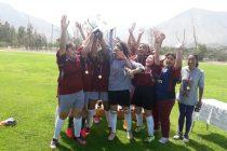 Leonardo Da Vinci y Carlos Mondaca fueron los campeones de las  finales de fútbol femenino