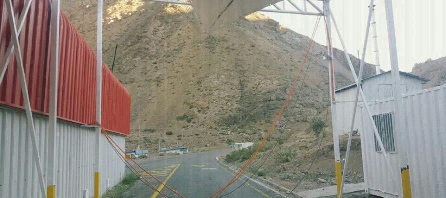 Fuertes vientos provocan daños en el Complejo Fronterizo Agua Negra