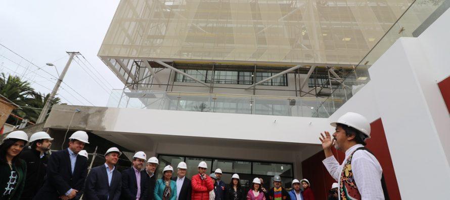 Un 95% de avance presenta la Biblioteca Regional Gabriela Mistral