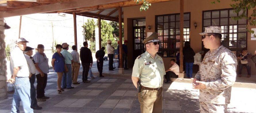 Continúa el desarrollo de las elecciones en los dos locales de Paihuano