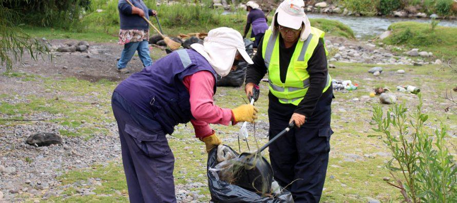 Nueva operación de limpieza se realizó en la ribera del Río Elqui en El Molle