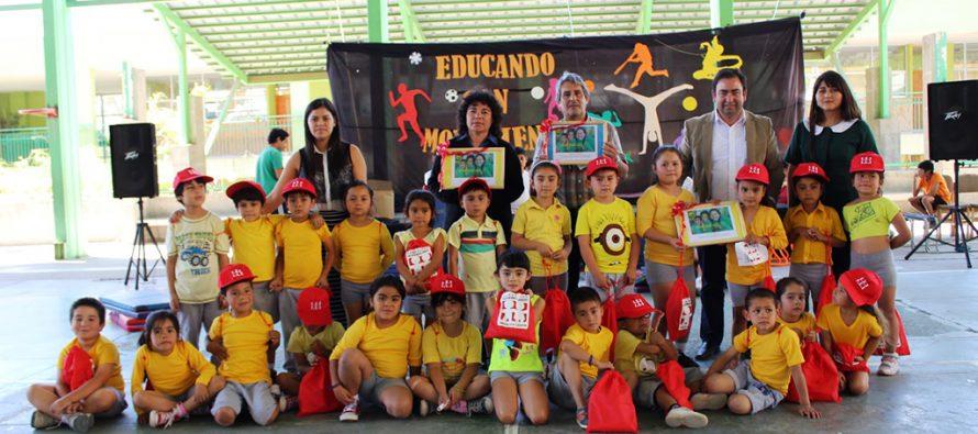 Destacan a colegios que promueven hábitos saludables en Peralillo