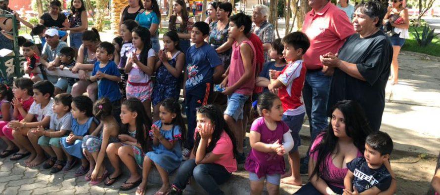 El fin de semana de Navidad continuaron las fiestas para niños y niñas de la comuna de Vicuña