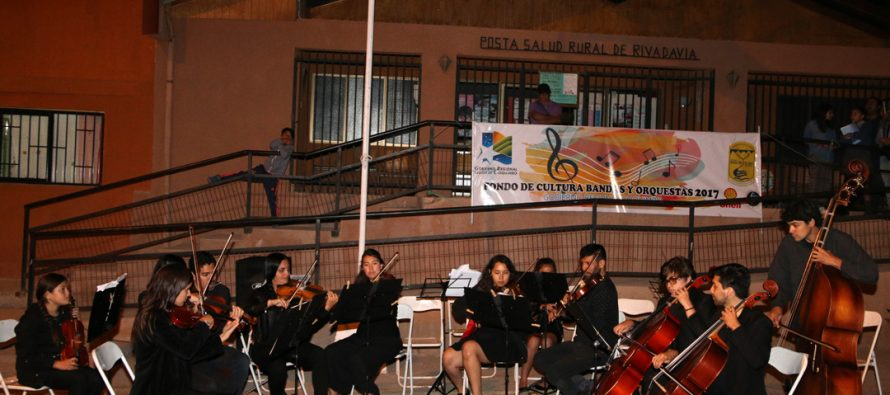 Orquesta de Niños de Rivadavia tuvo su 1era presentación formal a la comunidad