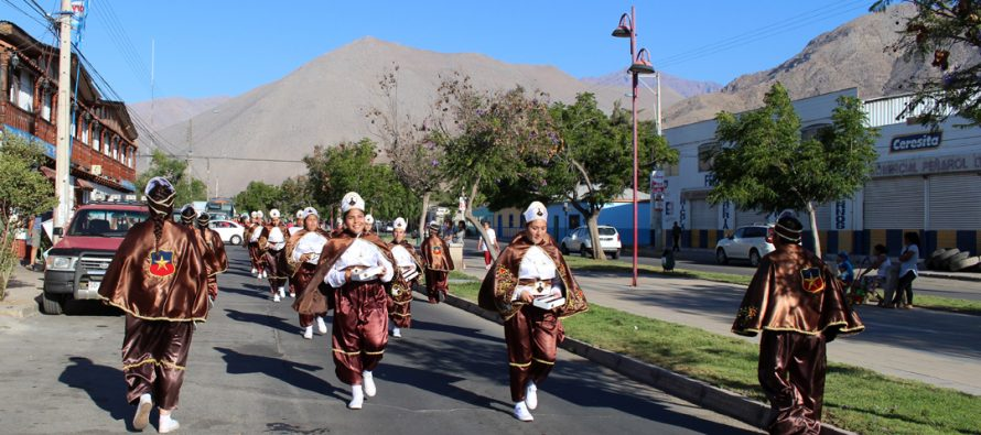 Bailes chinos de Vicuña y Paihuano celebraron la novena de la Inmaculada Concepción
