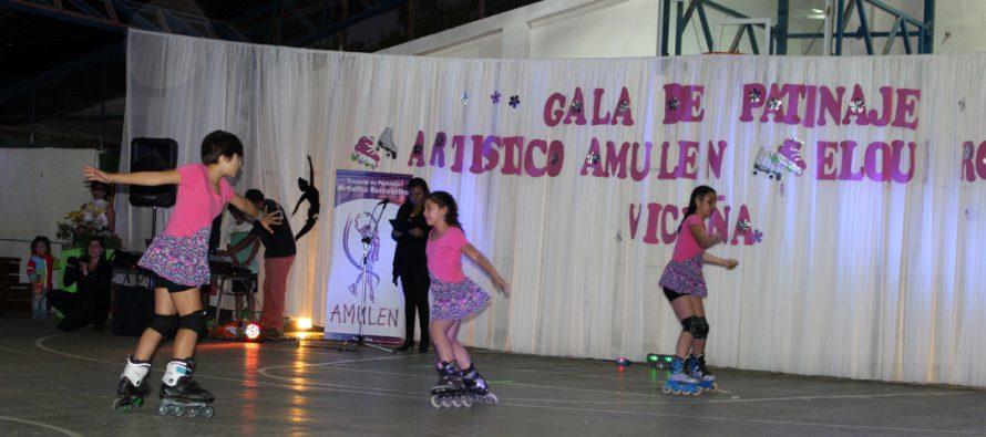 Con éxito se vivió la primera gala de patinaje artístico en Vicuña
