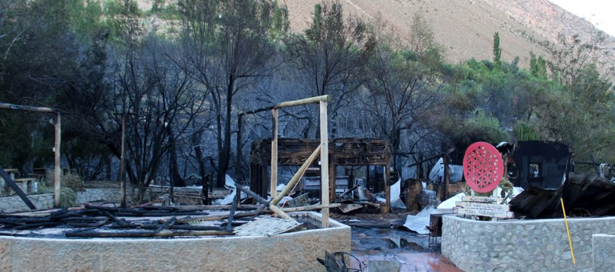 Fiscalía de Vicuña continúa con la investigación del incendio del Pueblo Artesanal de Horcón