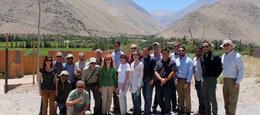 Californianos visitan el Valle del Elqui para conocer el trabajo desarrollado en el sector agrícola