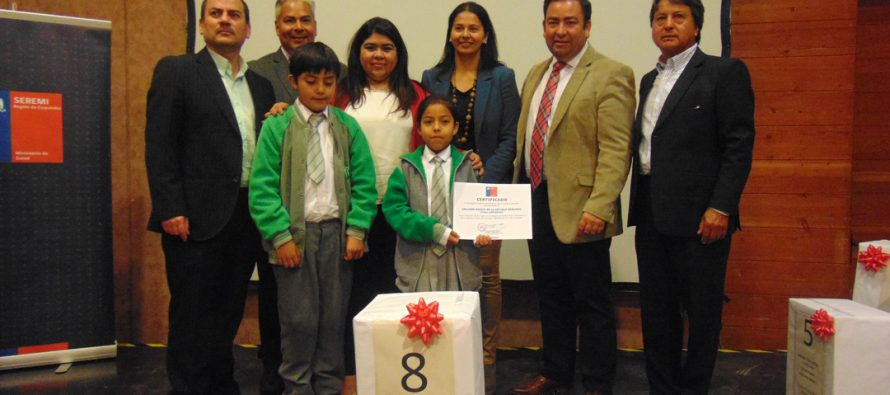 """Estudiantes ganan  premios de concurso  """"Prácticas de una vida saludable"""" del Minsal"""