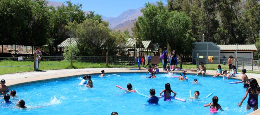 60 niños y niñas de Vicuña disfrutarán por 25 días del centro de verano en Parque Los Pimientos