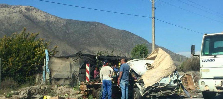 Emprendedor de Vicuña fallece en choque de dos camiones en Las Rojas