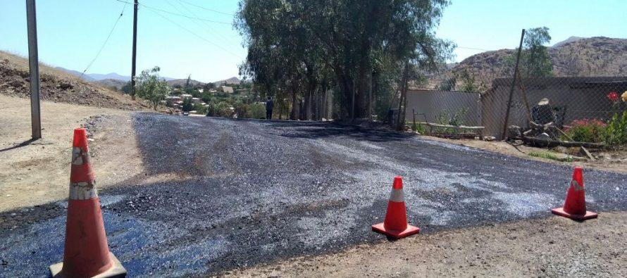 Continúa el proceso de pavimentación en la comuna de Vicuña a través de Vialidad