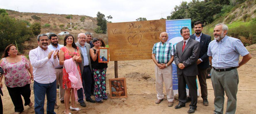 Plaza mantiene vivo el recuerdo de niñas y niños oncológicos de la región