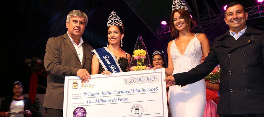 Sharon Rivera Pozo es la nueva reina del Carnaval Elquino 2018