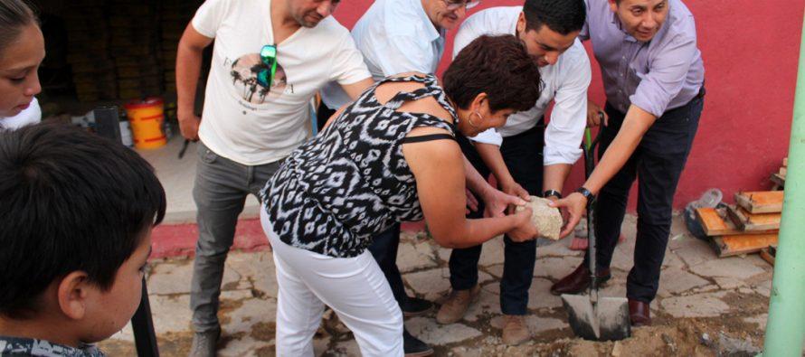 Realizan ceremonia de  primera piedra de mejoramiento en multicancha de Montegrande