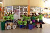 En distintas escuelas de Vicuña se están desarrollando talleres de batucadas