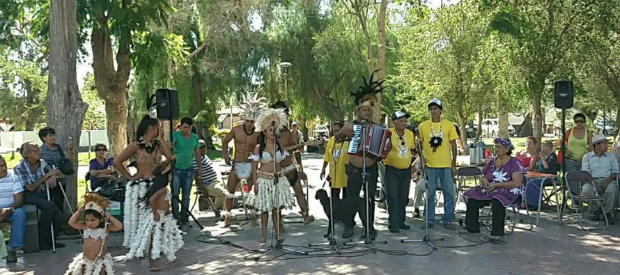 En la plaza Gabriela Mistral se realizó un encuentro intercultural con el pueblo Rapa Nui