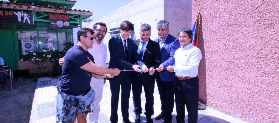 Con la presencia del ministro se inauguran nuevas instalaciones de la Casa del Deporte de Vicuña